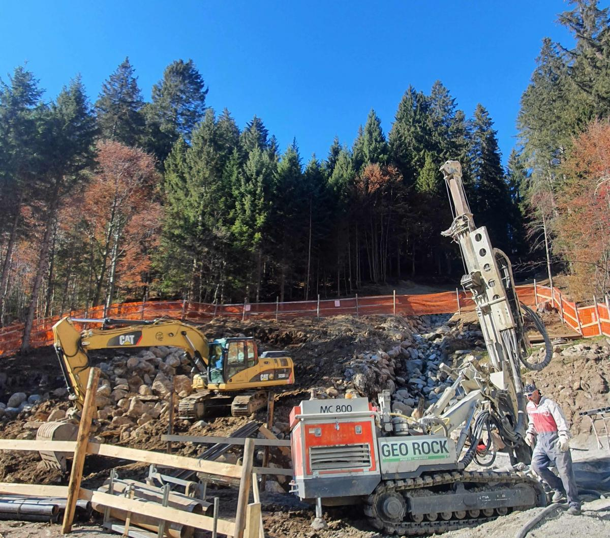 Micropiles for Water Management, Madonna di Campiglio