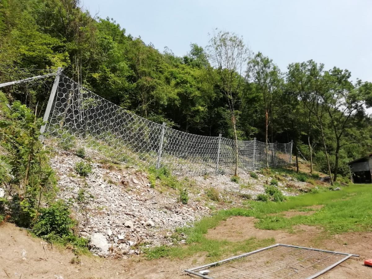 Barriera Paramassi nel comune di Vestone