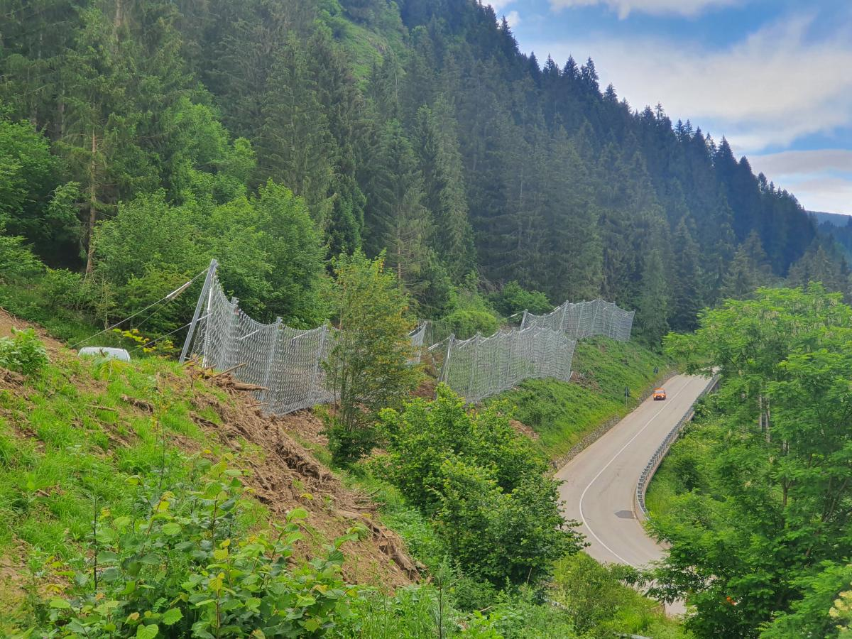 Rockfall Barriers on SS50 Main Road, Predazzo