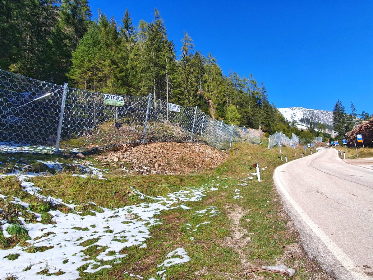 Rockfall Barriers on SS620 Main Road, Passo Lavazzè